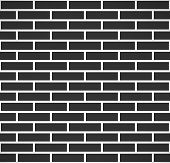 foto of stonewalled  - Black brick wall seamless pattern - JPG