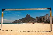picture of ipanema  - View of Ipanema Beach Through the Football Gate - JPG