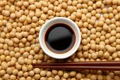 foto of soy sauce  - soy sauce is a typical Japanese seasoning - JPG