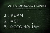stock photo of motivational  - business resolutions and goals for the new year 2015 - JPG