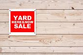 image of yard sale  - YARD SALE HERE  - JPG