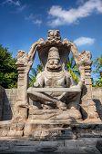 picture of karnataka  - Narasimha stone statue in Hampi Karnataka India - JPG