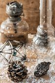 stock photo of kerosene lamp  - old - JPG