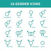 stock photo of gay symbol  - Sexual orientation gender web icons - JPG