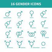 pic of gender  - Sexual orientation gender web icons - JPG