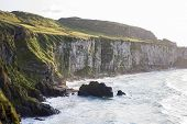 image of ireland  - Seascape at The Carrick a rede in Northern Ireland - JPG