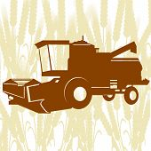 pic of combine  - Agricultural machinery - JPG