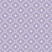 picture of fleur de lis  - White and Purple Fleur - JPG