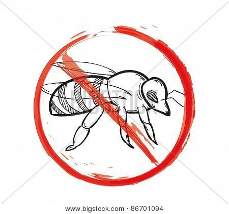 Warning Sign Of The Bee