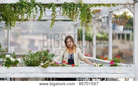 Woman In A Vintage Setting