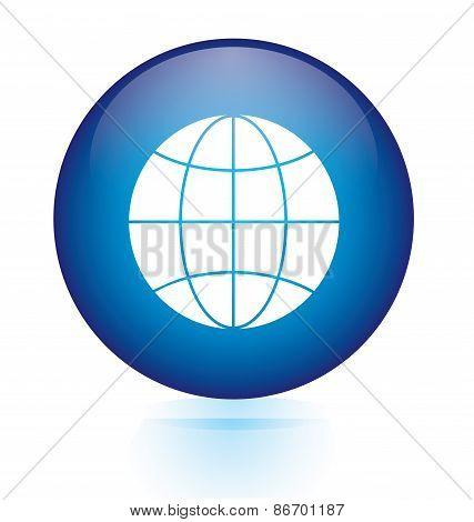 Globe sign button