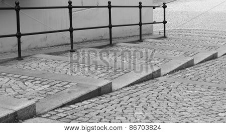 stairs in bw
