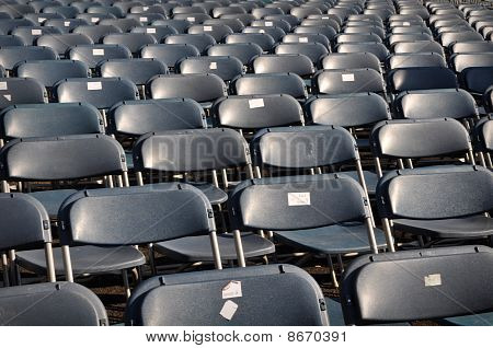 Black Chairs In Stadium For Concert
