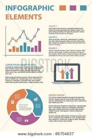 Vector infographic template for cycling diagram, graph, presentation