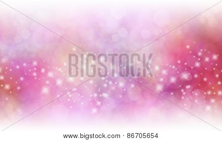 Starry Glitter Red and Pink background banner