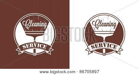 Cleaning Service Vector Vintage Logos