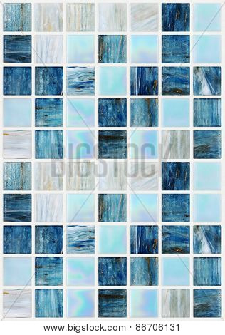 blue square tiles with various effects marble