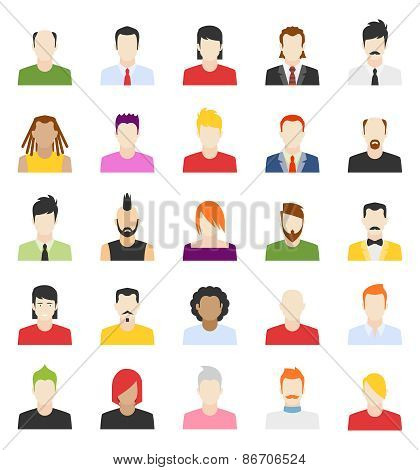 vector design of people avatars