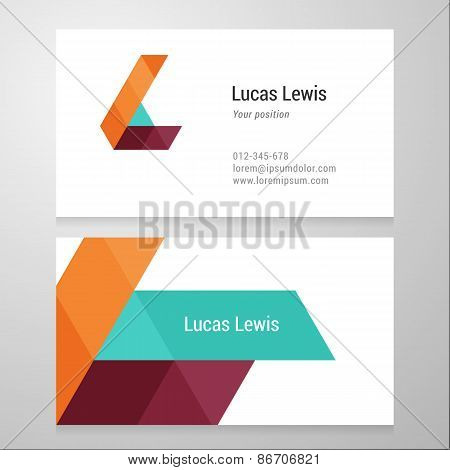 Modern Letter L Business Card Template