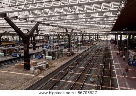 Rotterdam main railway station onder reconstruction