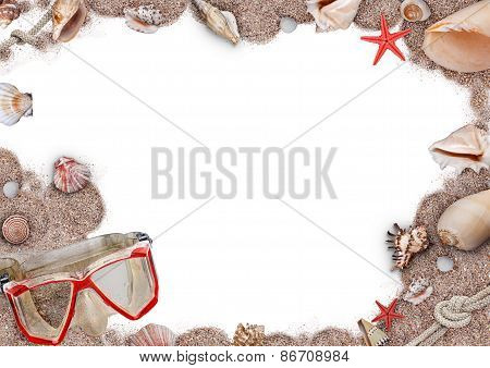 Sand, Shells And Seastar Frame