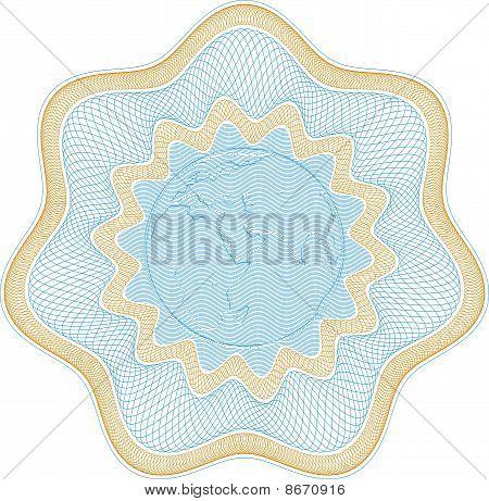 Embossed Globe Rosetta