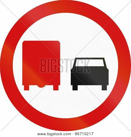 No Overtaking By Lorries In Poland