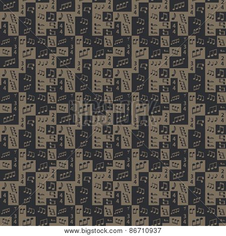 Seamless Graphic Pattern With Notes