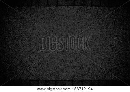 Dark Grunge Textured Wall Frame. Copy Space