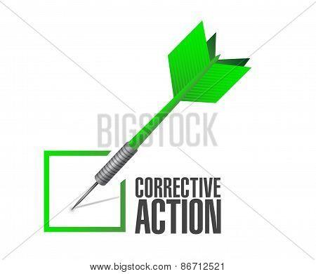 Corrective Action Check Dart Sign