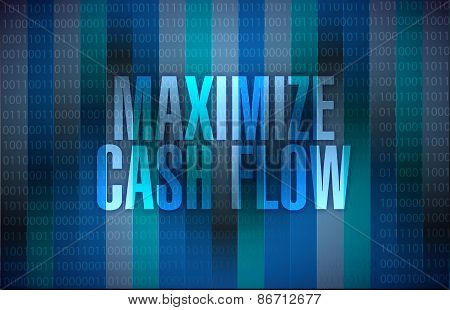 Maximize Cash Flow Binary Sign Illustration