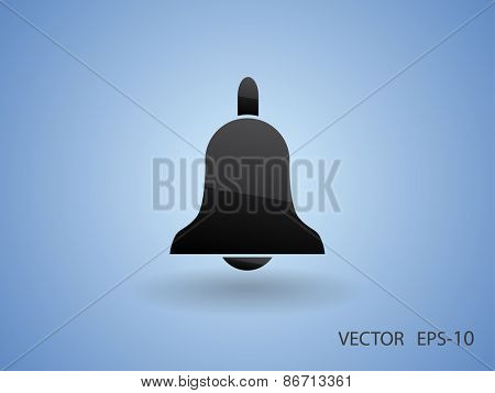Flat icon of bell