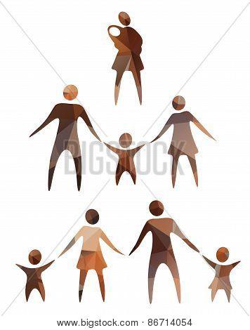 family symbols set