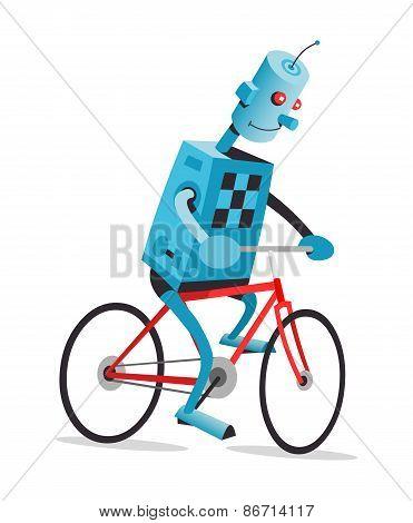 Robot On A Bike