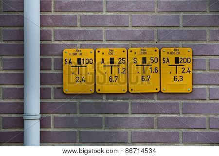 Gate Valve Signs For Natural Gas