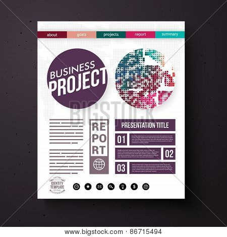 Business Project Report Presentation Layout
