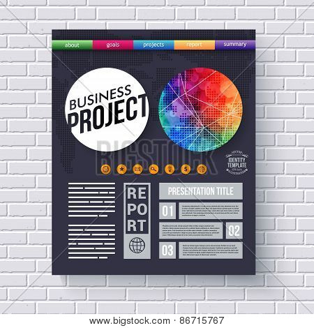 Dynamic business Project design template