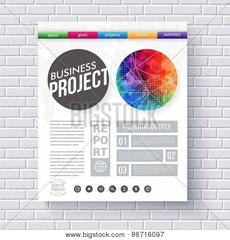 Artistic design template for a Business Project