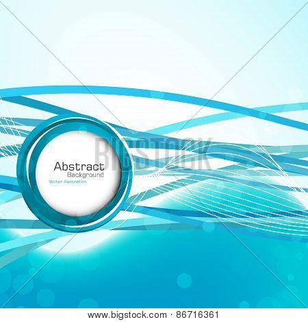 Stylish Abstract Blue Background. Vector