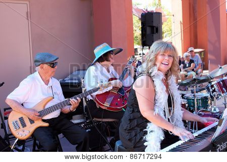 Cheryl Thurston Danny Shannon and Madelyn Roberts of 52nd Street Jazz Band