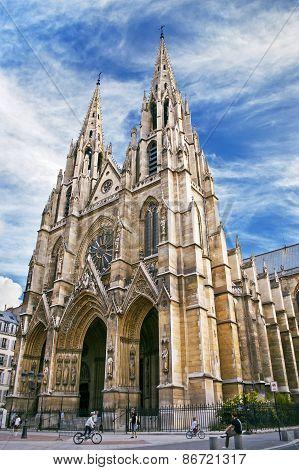 Saint Clotilde Gothic Church In Paris