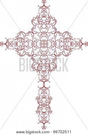 Christian Cross Design Vector Art