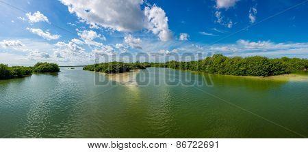 Panorama Of Reserva Sian Ka'an, Boca Paila. Traveling Mexico, Caribbean Paradise.