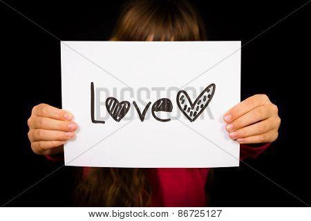 Child Holding Love Sign