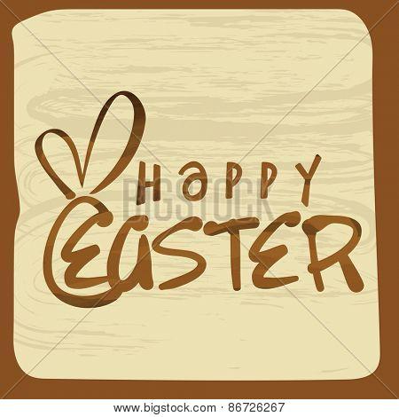 Happy Easter celebration vintage greeting card design.