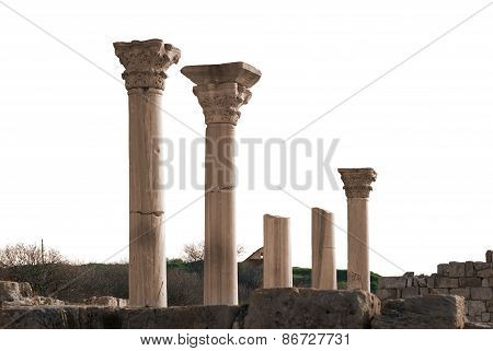 Ancient Castle With Columns