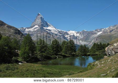 Matterhorn And Lake Grindjesee