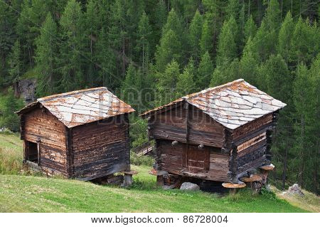 Traditional Rural Architecture In Zermatt