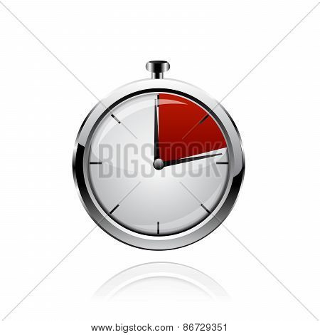 Vector stop watch, realistic illustration.