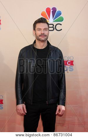 LOS ANGELES - MAR 29:  Ryan Seacrest at the 2015 iHeartRadio Music Awards at the Shrine Auditorium on March 29, 2015 in Los Angeles, CA